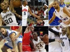 Spanoulis, Ginobili, Durant, LeBron James, Parker, Mills, Noah y Bryant