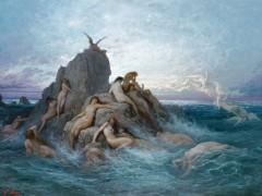 Gustave Dor�, Oceanids or Naiads of the Sea, c. 1878