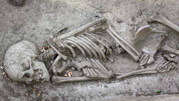 Restos óseos en Granada