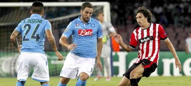 Higuaín e Iturraspe en el Nápoles - Athletic