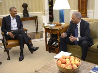 Obama y su Fiscal General, Eric Holder