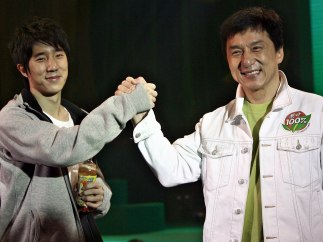 Jackie Chan y su hijo Jaycee