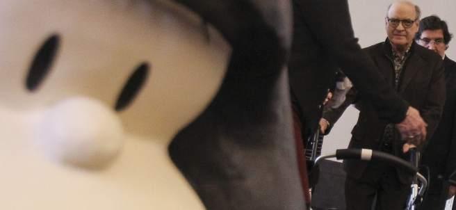 Joaquín Salvador, conocido como Quino, en el 50 aniversario de Mafalda