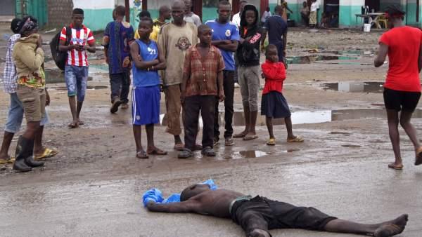 Muerto por ébola