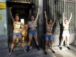 Protesta de Femen ante Interior