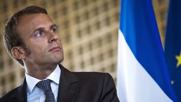 El exministro de Economía francés, Emmanuel Macron