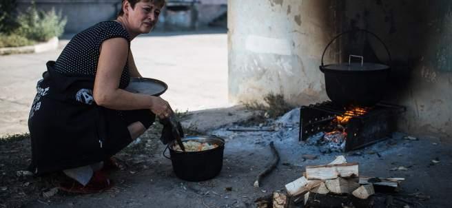 Civiles en Ucrania