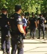 Polic�as trabajando en Madrid