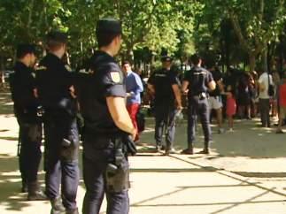 Policías trabajando en Madrid