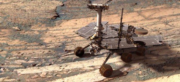 El rover Opportunity en Marte