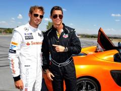 Cristiano Ronaldo y Jenson Button
