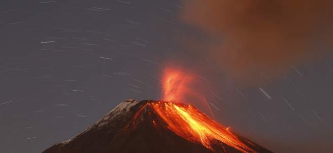 La Tierra escupe fuego