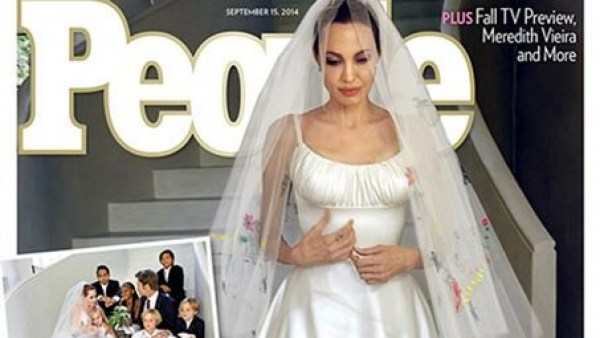Portada de la boda de Angelina Jolie y Brad Pitt en People