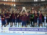 El Bar�a de balonmano, campe�n de la Supercopa 2014