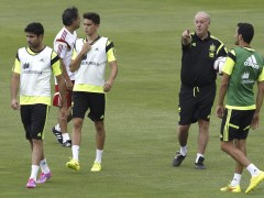 Primer entrenamiento de la selecci�n espa�ola tras el Mundial de Brasil