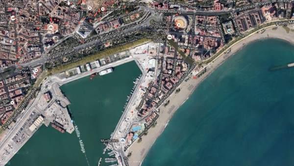 El Puerto de Málaga capital.