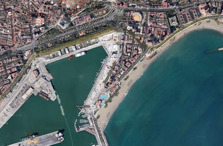 El centro pompidou de m laga el nico de espa a abrir en marzo - Fotografia aerea malaga ...