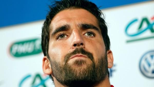 Raúl García, en rueda de prensa con la selección