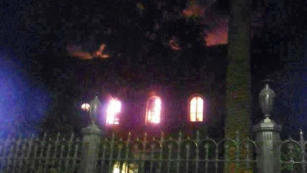 Incendio en la Facultad de Derecho de Granada