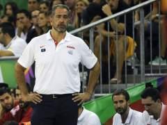 El entrenador de España, Juan Antonio Orenga