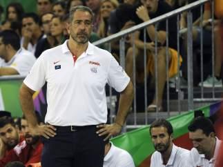 El entrenador de Espa�a, Juan Antonio Orenga