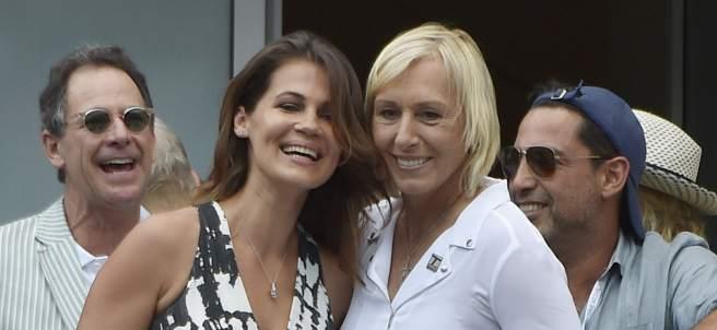 Martina Navratilova y Julie Lemigova