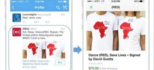 Twitter introduce la opción de 'comprar' desde la app