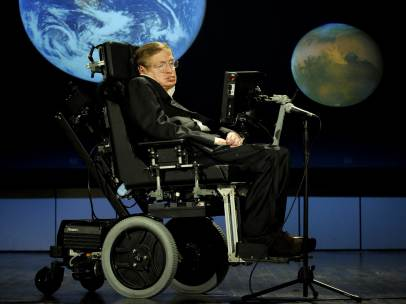 Stephen Hawking en la Universidad de Cambridge