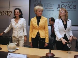 Ana Patricia Botín, María Teresa Fernández de la Vega Y María Garaña