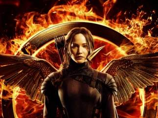 Jennifer Lawrence luce alas en el cartel de la nueva entrega de 'Los juegos del hambre: Sinsajo'
