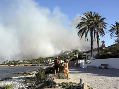 Incendio en el Montgó.