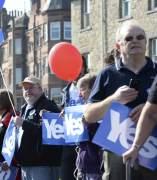 Simpatizantes de la independencia escocesa