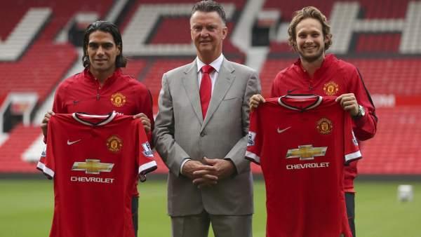 Falcao, Van Gaal y Daley Blind