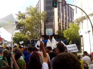 Manifestaci�n contra el Toro de la Vega