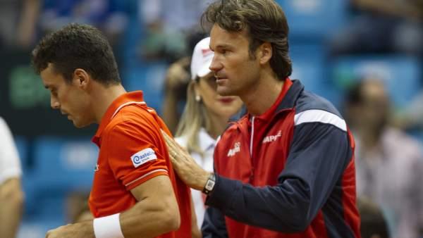 Carlos Moyá y Roberto Bautista