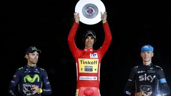 Podio final de la Vuelta 2014