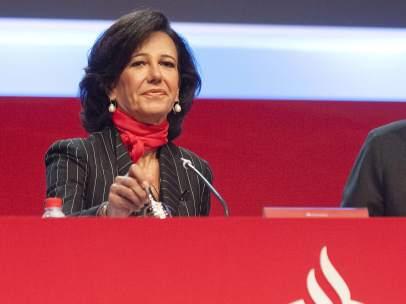 Primer acto de Ana Botín como presidenta del Santander