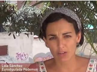 Lola S�nchez, eurodiputada de Podemos