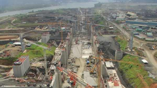 Obras en el Canal de Panamá
