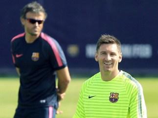 Luis Enrique y Messi