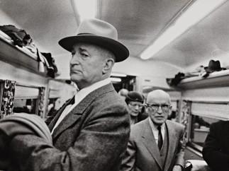 Robert Frank (U.S.A., b. Switzerland, 1924), En route from New York to Washington, Club Car, 1954