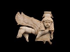 'Openwork ivory plaque with striding sphinx'. Assyria, Nimrud, Fort Shalmaneser. Neo-Assyrian, 9th�8th century B.C