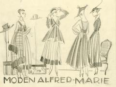 Annie Offterdinger: Modeskizze f�r Moden Alfred-Marie, Berlin, um 1915