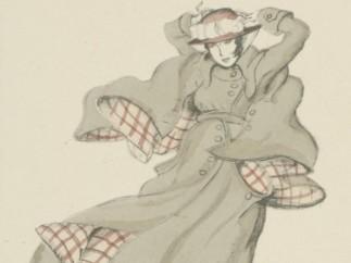 Ludwig Kainer: Entwurf f�r einen Herbstmantel, 1914