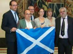 La bandera escocesa, en el Congreso