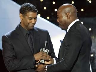 Denzel Washington recibe el Premio Donostia