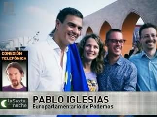 Pablo Iglesias y Pedro S�nchez