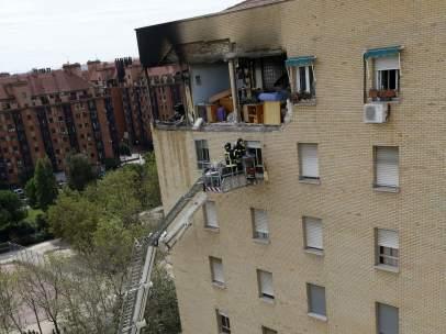 Explosión en una vivienda de Usera