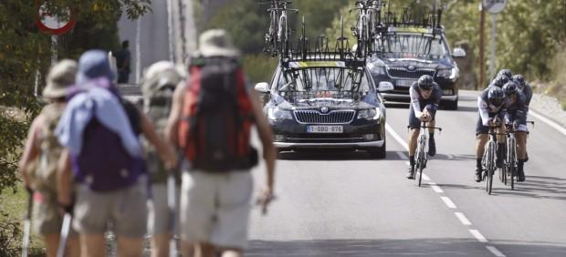 Crono por equipos de los Mundiales de Ciclismo en Ponferrada