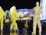 Llegada a España del religioso infectado de ébola